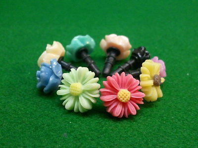 Phone Dust Plug Ear Cap Charm 12 Pc Assorted Flowers & Candy 3.5mm + FREE GIFT??