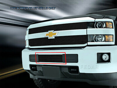 Black Billet Grille Grill Bumper For Chevrolet Silverado 2500HD 3500HD 2015-2019