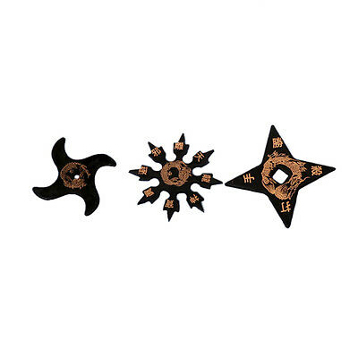 Rubber NInja Stars Set Of 3 Throwing Shuriken Martial Arts Ninjitsu Ninjutsu