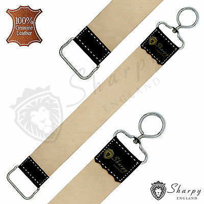 Real Leather Sharpening Honing Strop Belt For Straight Cut Throat Shaving Razor
