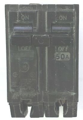 Ge Thqb250 50A 2P 120/240V 100Kaic Bolt-On Molded Circuit Breaker