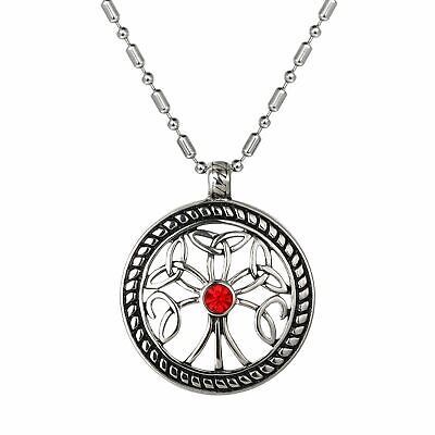 Men Stainless Steel Necklace Pendant Chain Celtic Knot Vintage Egyptian Hollow