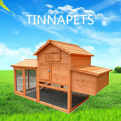 Chicken Coop X-LARGE 1.8M Rabbit Guinea Pig Ferret House Hutch Run Egg Cage P046