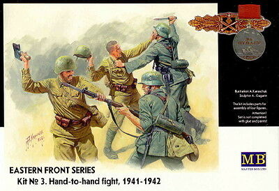 Master Box 1/35 Scale Plastic Model Kit Hand To Hand Eastern Front Mb3524