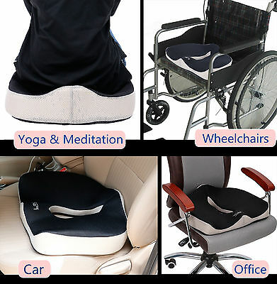Memory Foam Coccyx Orthopedic Office Chair Pad Seat Cushion Pain Relief Pillow