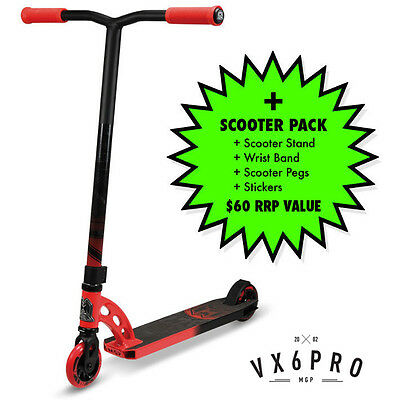 2016 MADD GEAR MGP VX6 Pro Scooter Complete RED/BLACK + $60 SCOOTER PACK