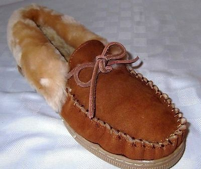 1 Pair Men's Moccasin House Slippers Shoes - Mens Size 11, 12, 13, 14, 15, 16