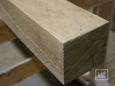 Solid Oak beams Timber 125x125 x 2500mm kiln dried sawn and brushed white oiled