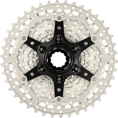 Sunrace MS3 10 speed wide ratio MTB cassette 11-42T or 11-40T Black or Champagne