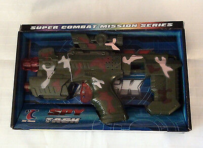 Spy Task Battery Operated Toy Hand Gun With Lights And Sound - New