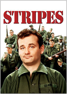 Stripes Bill Murray Vintage Movie Poster Art Print - A0, A1, A2, A3, A4 Sizes