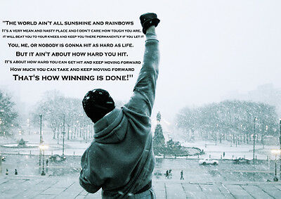 Rocky Balboa Vintage Movie Type Quote Large Poster Art Print - A0 A1 A2 A3 A4
