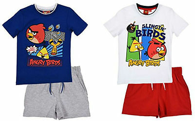 Angry Birds T-Shirt & Short Set Outfit Boys Short & T-Shirt 2pc Set Age 3-10Y
