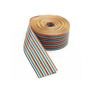 3.3ft 1M  40 Way 40 pin Flat Color Rainbow Ribbon IDC Cable Wire Rainbow Cable