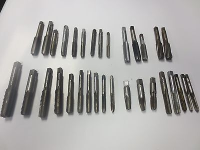 Drill Taps  Lot Of '32'  1/4-5/8   All Usa  Large Lot Of 32 All Good U.s.a.