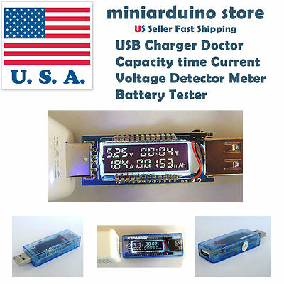 3 in 1 OLED Battery Tester Power Detector Voltage Current Meter USB Charger