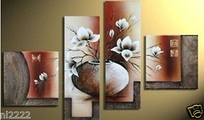 YAKAI Hand-paint Oil Painting On Canvas Wall decor Art 4Pcs/set Flower No frame
