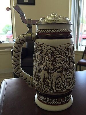 1980 Avon Brazilian Made Hand Crafted, Numbered, Lidded Beer Stein