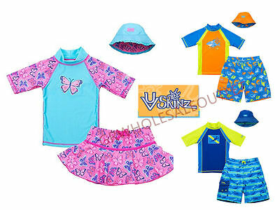 UV Skinz Kids Girl's Boy's 3-piece Swim Set