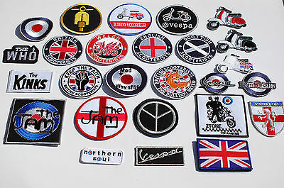 Scooter Iron/Sew On Patches - 126 Different Designs - Mods - Ska - Full Colour