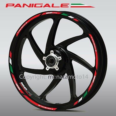Ducati Panigale 899 959 1199 1299 motorcycle wheel decals rim stickers stripes