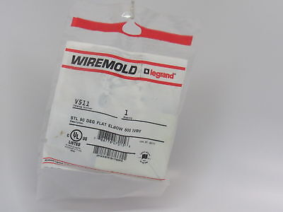 "PACK OF4 WiremolD V511 751022 Series Steel V500 90Degree Single-Channel 2"" Ivory"