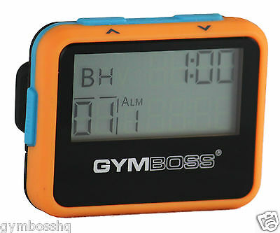 Gymboss Interval Timer And Stopwatch Orange / Blue Softcoat Shipped From Canada
