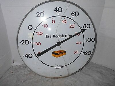 "VINTAGE COLLECTIBLE KODAK 18"" round Thermometer"