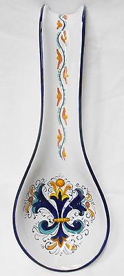Deruta Pottery-Spoonrest Ricco Deruta Made/Painted by hand Italy