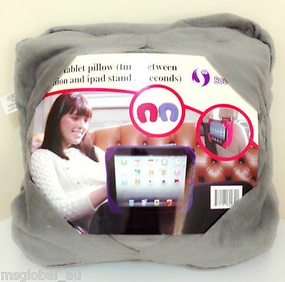 Multifunctional iPad Tablet Pillow Rest Stand, In Car, Travel Pillow 3 in 1 GREY