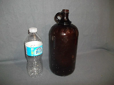 Javex Brown 64oz. Glass Empty Bottle Finger Handle