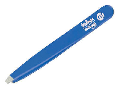 Topinox® Solingen Slant Tweezers Blue