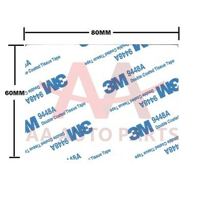 10 X 3M Double Sided Adhesive foam tape white sticky pads 80mmX60mm