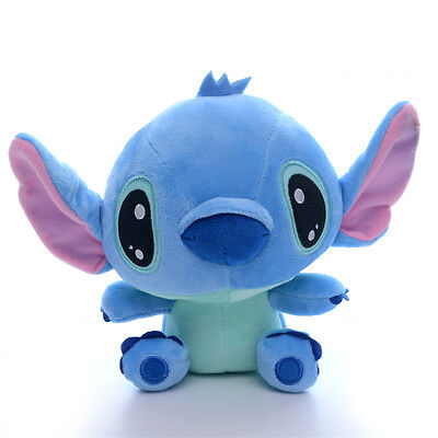 Collectible Blue Lilo Stitch Cartoon Moive Figure Soft Plush Kids Doll Toys 7''