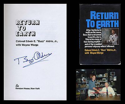 EDWIN BUZZ ALDRIN Autographed Signed Book RETURN TO EARTH Astronaut NASA