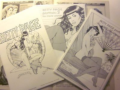 BETTY PAGE PORTFOLIO #1 (Woron) + 2 (Woron) + #3 (Paresi) + Woron Studio Catalog