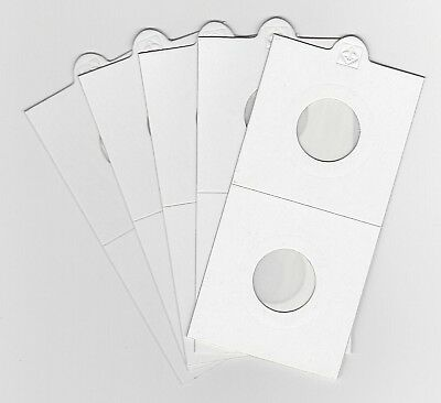 """LIGHTHOUSE 20mm SELF ADHESIVE 2""""x 2"""" COIN HOLDERS x 5 - SUIT SIXPENCE/5CENT"""