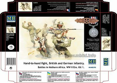 Master Box 1/35 Scale Plastic Model Kit Hand To Hand British And German Mb3592