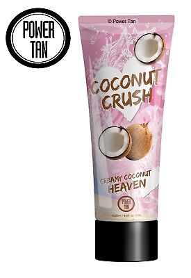 Power Tan Coconut Crush Tanning Sunbed Lotion Cream Accelerator 250ml Tube