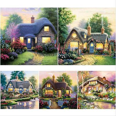 DIY Home To Cottage 5D Embroidery Diamond Cross Stitch Painting Home Decor New