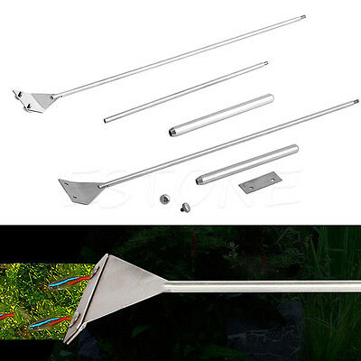 Aquarium Fish Tank Glass Stainless Steel Algae Coralline Scraper Blade Cleaner