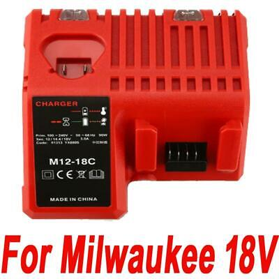 Battery Charger for Milwaukee M12-18C 48-59-1812 M18B4 Li-ion 18V Battery