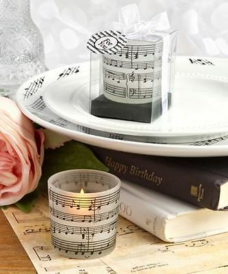 Set of 6 Musical Note Design Candle Wedding & Party Favors