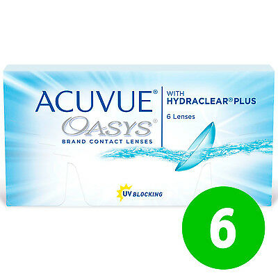 Acuvue OASYS Hydraclear PLUS 1x6 BC 8.4 and 8.8 Non-Stop-Lenses 2-Weeks !