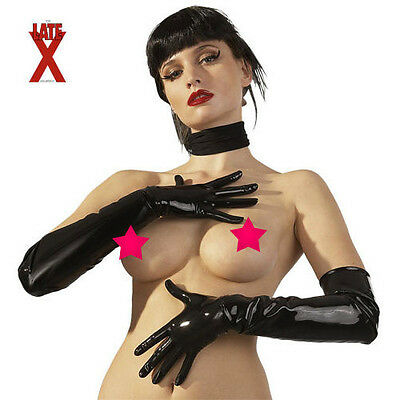 GUANTI NERI IN LATEX Taglia M LATEX sexy shop toy