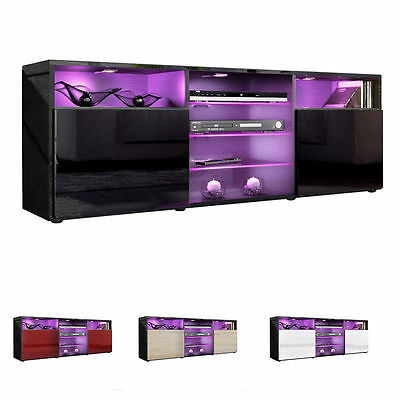 "Black High Gloss Modern TV Stand Unit Media Entertainment Center ""Granada"""