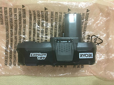 Brand New P102 RYOBI 18V  RECHARGEABLE PLUS ONE BATTERY ONLY