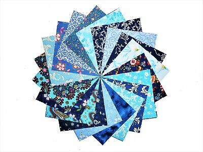 "20 10X10/"" Quilting Fabric LAYER CAKE SEA OF BLUE//Beautiful!!//20 DIFFERENT-NEW"
