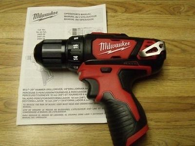 "Brand New M12 Milwaukee 12V Lithium 3/8"" Chuck Keyless Drill Driver 2407-20"