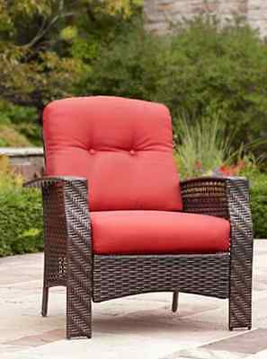 Hometrends Tuscany Wicker Lounge Chair Includes: all-weather [green or red]